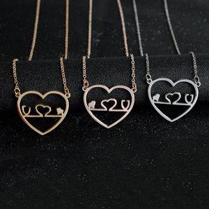 Stetoscopio Love Heart Collana Silver Rose Gold Heart Love Pendenti Catene Gioielli di moda Gif per Donna Uomo