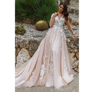 Stunning Designer A Line Wedding Dresses Illusion Neckline Sheer Long Sleeves Full Embroidery Court Train Bridal Gowns