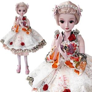 UCanaan 1/3 BJD SD Girls Dolls 19 Ball Body articulado Doll Easy To Stand Princesa de belleza con elegantes zapatos de vestir Juguetes para niños