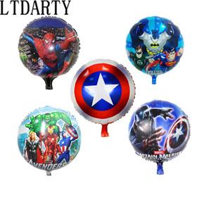 50pcs / lot 18 pouces Superman Batman Spiderman ballons pour les enfants fête héros ballons à l'hélium gonflables anniversaire de bébé fournitures