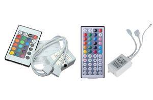 Mini IR Télécommande 2 ports DC 12V pour RGB SMD 5050 3528 Led bande sans fil 24 touches 44 touches