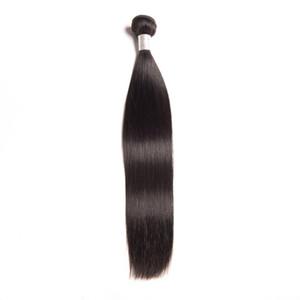 Peruvian Human Hair Extensions Straight Virgin Hair Wholesale Hair Weaves Natural Color 95-100g piece Silky Straight One Bundle