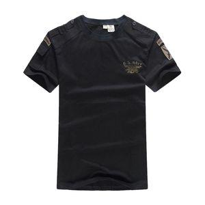 T-Shirt T-Shirt Tuta Tattica US Navy Abbigliamento Uomo Army SWAT Camouflage Combat T-shirt allentata a maniche corte T-shirt