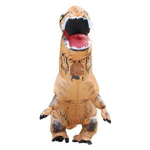 T-rex Dinozor Şişme Kostüm Cadılar Bayramı Şişme Kostüm cosplay çocuklar için karikatür ile Şişme Kostüm fantezi Elbise
