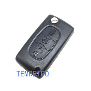 Replacement Remote key shell case fits for Citroen C2 C3 C4 C5 C6 C8 3 Button Fob cover uncut blade