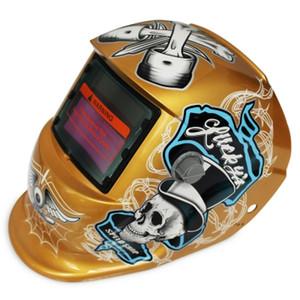 Maschera per saldatura auto casco scurente automatico Maschera per saldatura solare energia automatica sostituibile Casco protettivo per saldatura elettrica con motivo a pirati VB