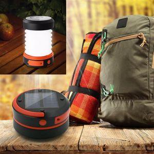 Lampade Luci solari Led Camping Lanterna luci batteria ricaricabile pieghevole torcia elettrica per escursione esterno che tenda Garden Emergency Charger