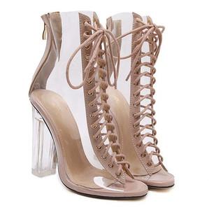 Frauen Schuhe Sandalen 2018 Sommer Sandalen für Frauen Gladiator High Heels Riemen Fisch Mund Sandalia Feminina Zapatos Mujer