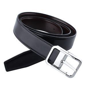 """Cintura reversibile da uomo HAWSON da 1,3 """"Cintura da uomo in pelle larga da uomo 90-120 CM con fibbia ad ardiglione"""
