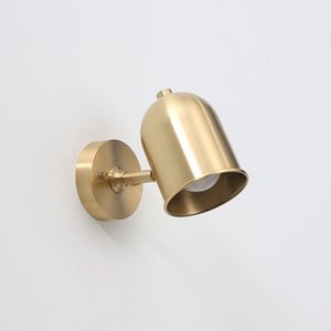 Nordic Brass Wall Sconce Modern Minimalist Bedroom Wall Light Mirror Front Lamp Bathroom Aisle Corridor Wall Lamps