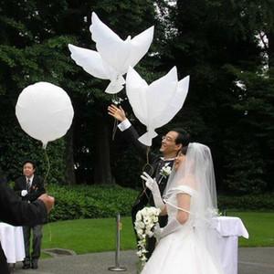 Flying White Peace Dove Globo Palomas Paz Dove Foil Globo Decoración de La Boda Globos de Aluminio Decoración Del Partido Inflable Photo Props