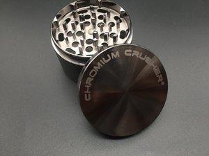 Оптовая grinder 2.5 дюймов 4LAYER хром Дробилка grinder Diamond herb табак grinder металл Zicn сплава курение сухой травы шлифовальные машины