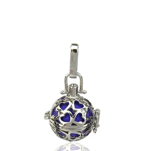 10pcs lot Silver Alloy Mini Heart With Buttons Ball Beauty Oysters Beads Cage Locket Pendant Aromatherapy Perfume Essential Oils Diffuser