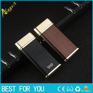 New hot Tiger marque 921 double arc pulsé briquet coupe-vent rechargeable USB briquet briquets métalliques avec boîte cadeau pour homme