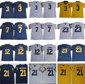 2019 Erkekler çocuklar Kolej 15 Chase Winovich Forması Michigan Wolverines 2 Shea Patterson 18 Brandon Peters 10 Dylan McCaffrey 3 Rashan Gary Gömlek