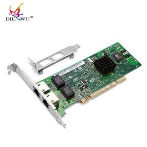 DIEWU Scheda di rete PCI 82546 di alta qualità Doppie porte 8492MT e adattatore per scheda di rete RJ45 RJ-45 Gigabit Server