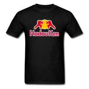 Hadou Ken بلايز Master Tshirt Men Street Fighter تي شيرت قطن تي شيرت أسود أحمر ملابس بارد ممر لعبة المحملة