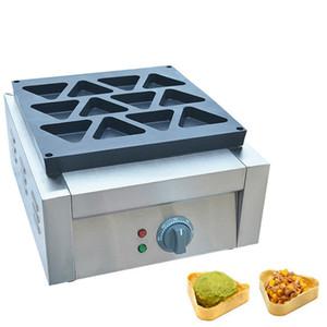 Qihang_top Ticari yapışmaz elektrik üçgen obanyaki waffle makinesi demir makine üçgen waffle makinesi waffle yapmak