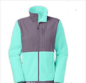 New Winter Womens Fleece Vestes Manteaux Haute Qualité Marque Coupe-Vent Chaud Soft Shell Sportswear Femmes Hommes Enfants Manteaux S-XXL Vert Menthe