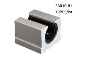 10 pz / lotto SBR10UU SME10UU 10mm tipo aperto unità lineare unità blocco lineare blocchi di supporto per router cnc parti della stampante 3d