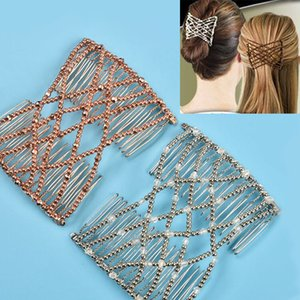 Flexible Butterfly Hair Clip Magic Elastic Hair Comb Women Styling Tools Magic Comb Professional Brush Fashion Headban