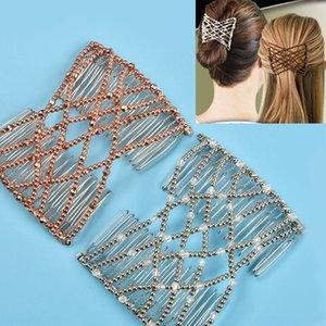 Flexível Borboleta Grampo de Cabelo Magia Elastic Hair Comb Mulheres Styling Tools Magia Pente Profissional Escova Moda Headban