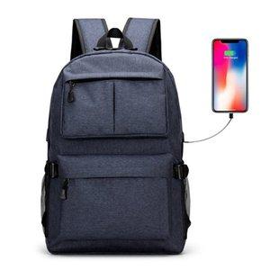 Fashion Business-Laptop-Rucksack Wasserdicht College School Daypack mit USB-Ladeanschluss Reise-Camping-Umhängetasche