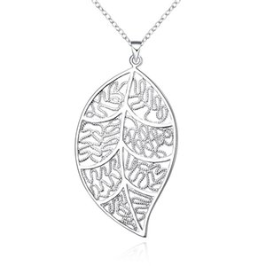 2018 vente chaude 925 argent sterling rétro feuille creuse pendentif charmes (sans chaîne) fit chaîne collier mode Bijoux Accessoires LKNSPCP187