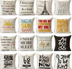 Hyha Funny Words Kissenbezug Home 45x45 cm Kissen Sea Sun Sand Style Kissenbezüge Home Kissenbezug Geometric