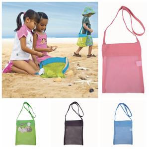 Kids Beach Mesh Pouch Children Ball Pouch Beach Sand Toys Storage Bag Organizer Carrying Box Tote Girls Sandboxes Shell Beach Bags LDH32