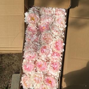 Flores artificiais Peônia De Seda Cabeças de Flor Festa de Casamento Decoração suprimentos Simulação falso flor cabeça decorações para casa por atacado DHL livre