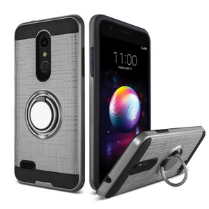 Hibrid Zırh Vaka LG Aristo 2 Metropcs LG k10 2018 k8 2018 360 Derece Dönen Araç Telefonu kılıfı Tutucu Manyetik Kapak