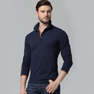 Polo à manches longues en coton pour hommes Nouvelle marque Mode Hommes Polos Hombre Casual Polo homme Chemises Plus Size Wholesale