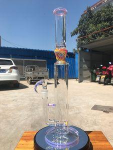 Горячие продажи большие бонги, 18 дюймов желтый красный цвет вышка бом новое стекло курить продукт вода pipewith 19мм чаша бесплатная доставка