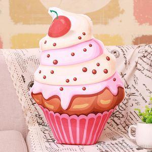 جودة عالية الإبداعية لطيف محاكاة الآيس كريم كعكة أفخم لعبة وسادة وسادة تزيين المنزل هدية عيد تأثيري الدعائم