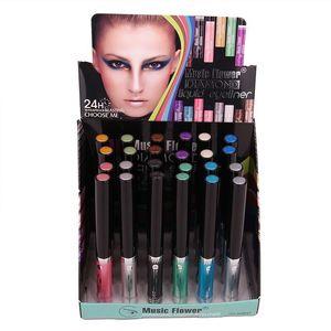 Étanche Longue durée Liquide Eye-Liner Pen Shimmer Ombre à Paupières Cosmétique Musique Fleur Coloré Glitter Eyeliner Maquillage Beauté