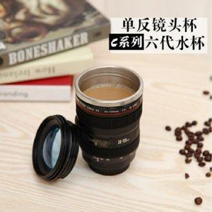 Nueva cámara de la cámara de acero inoxidable Creative Six Generation SLR Camera Cup Regalo de Navidad
