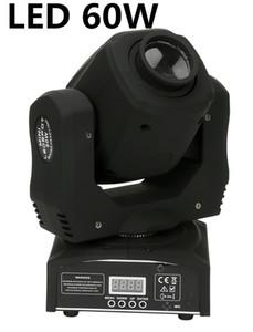 10pcs / lot führte 60W mini LED Spot Moving Head Licht Mini bewegliches Hauptlicht 60W DMX DJ 8 Gobos Lichteffekt-Bühne