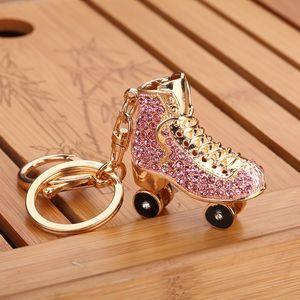 무료 DHL 열쇠 고리 가방 매력 펜던트 키 홀더 롤러 스케이트 구두 다이아몬드 열쇠 고리 쥬얼리 열쇠 고리 여자 여자 선물