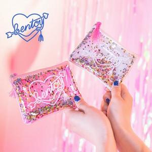 Portátil Mini lentejuelas redondas bolso de la moneda para las mujeres de la cremallera de la felpa bolsa de la moneda niños pequeñas carteras de almacenamiento de auriculares clave de la billetera