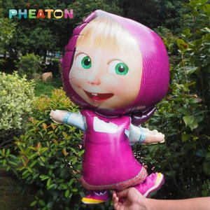 1pcs Masha Balloons Inflatable Party Balloons Decoration Air Balloon Classic Toys Largest 97*60cm Or Small 47*77cm