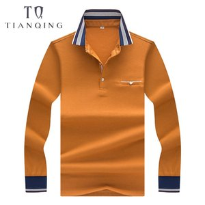 TIAN QIONG 2018 High-quality Autumn, Winter Long-sleeved  Business Men's   Shirt Fashion Color Strip Shirt