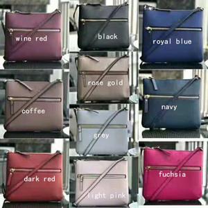 Bolsos de hombro de diseñador de marca de 10 colores bandolera Cross Body doble cremalleras pu monederos para mujeres