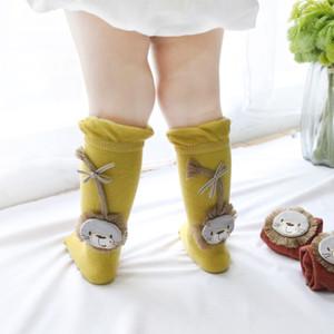Niños Baby Girl 3D Leggings Calcetines Calcetín de algodón Ropa de dibujos animados Stocks Lindo regalo de Navidad Pequeño León Estéreo pelo Algodón Otoño Invierno