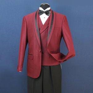EUA Homens ternos de casamento formal Groom Groomsmen Tuexdos Negócios Wear xaile lapela 3 Pieces (Jacket + Vest + calça) ST007
