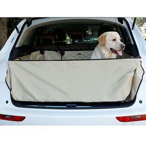 Dual-Use Dog SUV Cargo Liner Pet Dog Seat Cover Mat para cão Truck SUV Carga Tampa Pet frete grátis