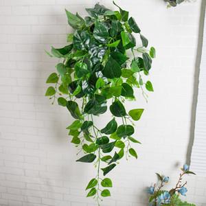 Duvar Dekor yapay Yeşillik sahte Bitki Ivy Yaprak Plastik Garland Vine yapay çiçekler Sahte Yeşillik duvar Asılı lateks yeşil bitkiler Vine