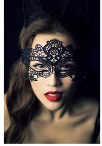 Acessórios sexy Boate Rainha Tridimensional Lace oco Máscara de Olho máscara uniforme Catwoman Máscara de Tentação Preto Atacado