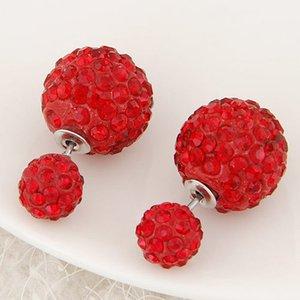 Étoile à ongles double face perle diamant avec ornements accessoires de boucle d'oreille
