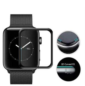 3D 전체 3 4 5 필름 화면 보호기 Iwatch 강화 유리 커버를위한 시리즈 1 2 애플 시계에 대한 강화 유리 9H 보호 커버를 대상